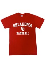 Gildan Basic Cotton Tee Oklahoma Baseball Crimson