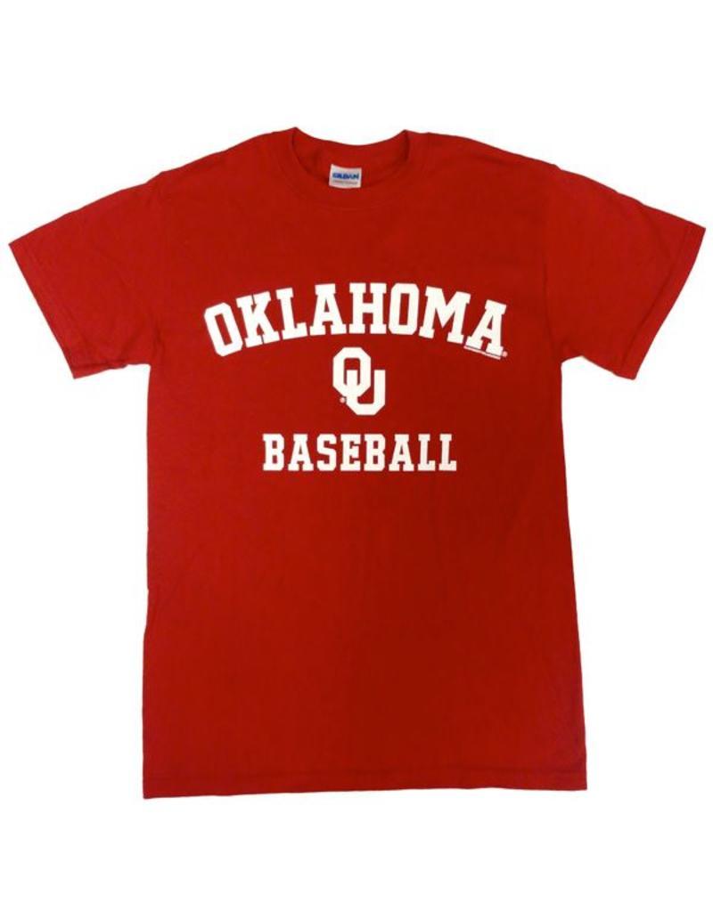 Gildan Basic Cotton Tee Oklahoma Baseball Crimson
