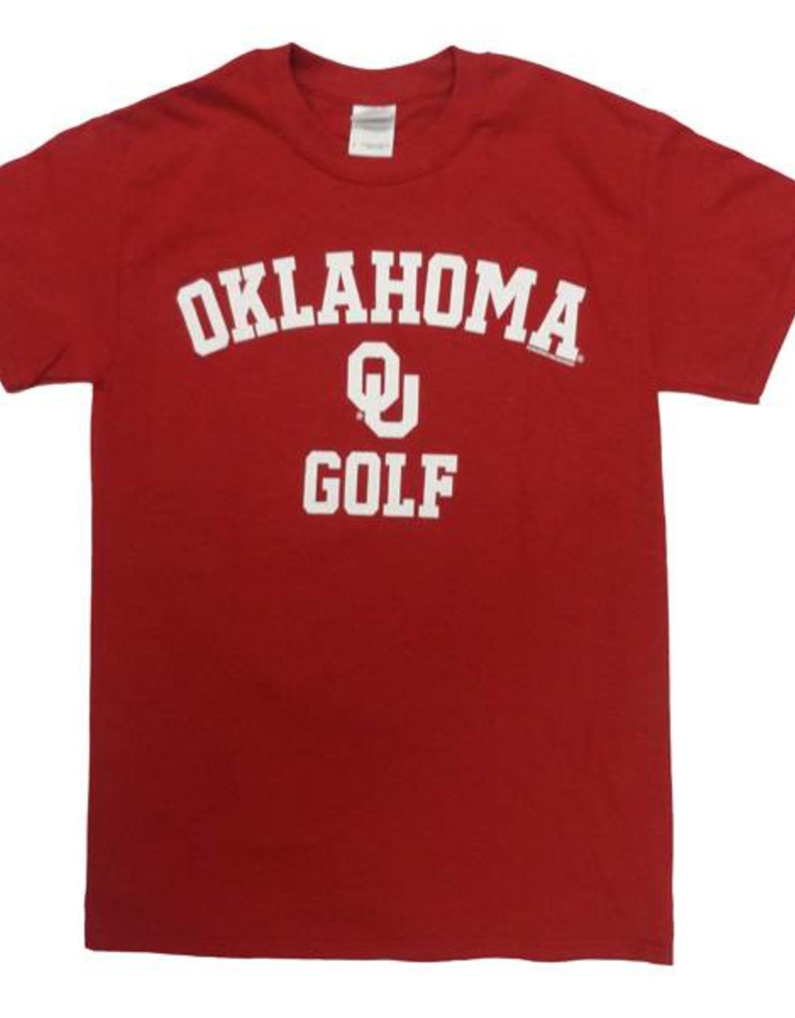 Gildan Basic Cotton Tee Oklahoma Golf Crimson