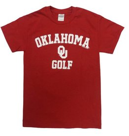 Gildan Basic Cotton Tee Oklahoma Golf Crimson