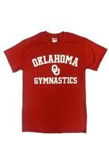 Gildan Basic Cotton Tee Oklahoma Gymnastics Crimson