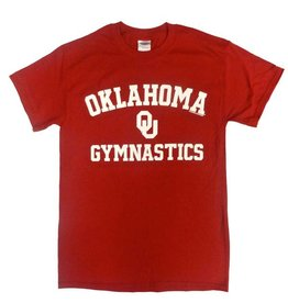 Gildan Basic Cotton Tee Oklahoma Gymnastics Crimson