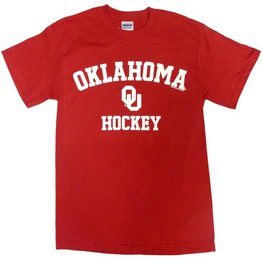 Gildan Basic Cotton Tee Oklahoma Hockey Crimson