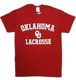 Gildan Basic Cotton Tee Oklahoma Lacrosse Crimson