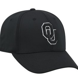 Top of the World TOW Tension Oklahoma One Fit Black Cap