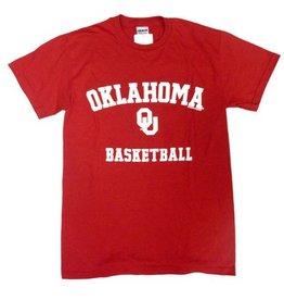 Gildan Basic Cotton Tee Oklahoma Basketball Crimson