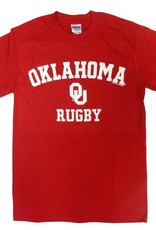 Gildan Basic Cotton Tee Oklahoma Rugby Crimson