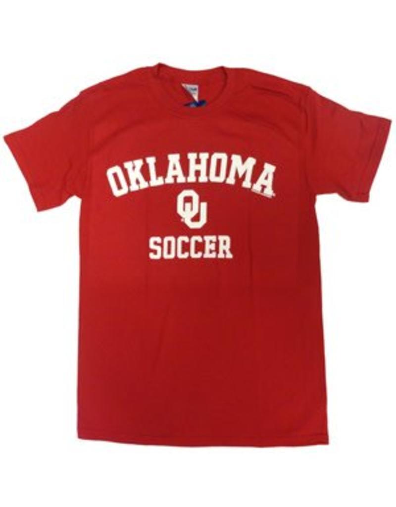 Gildan Basic Cotton Tee Oklahoma Soccer Crimson