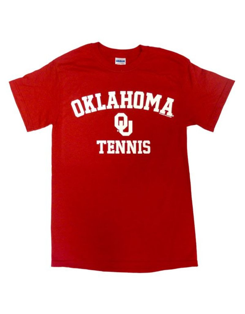 Gildan Basic Cotton Tee Oklahoma Tennis Crimson