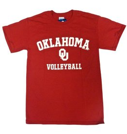 Gildan Basic Cotton Tee Oklahoma Volleyball Crimson