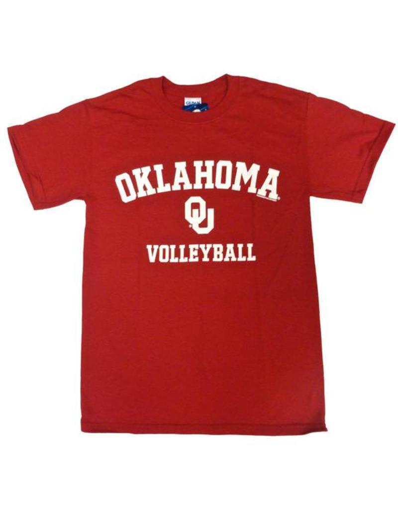 Gildan Basic Cotton Tee Oklahoma Volleyball Crimson