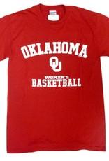 Gildan Basic Cotton Tee Oklahoma Women's Basketball Crimson