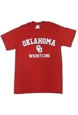 Gildan Basic Cotton Tee Oklahoma Wrestling Crimson