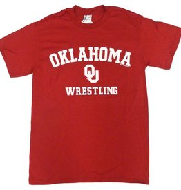 Gildan Basic Cotton Tee Oklahoma Wrestling Crimson