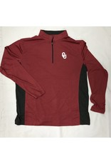 Colosseum Colosseum Heather Crimson 1/4 Zip with Grey Accent
