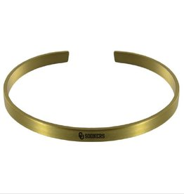 LXG LXG Gold-Tone Bangle Bracelet OU Sooners