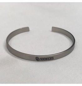 LXG LXG Silver-Tone Bangle Bracelet OU Sooners