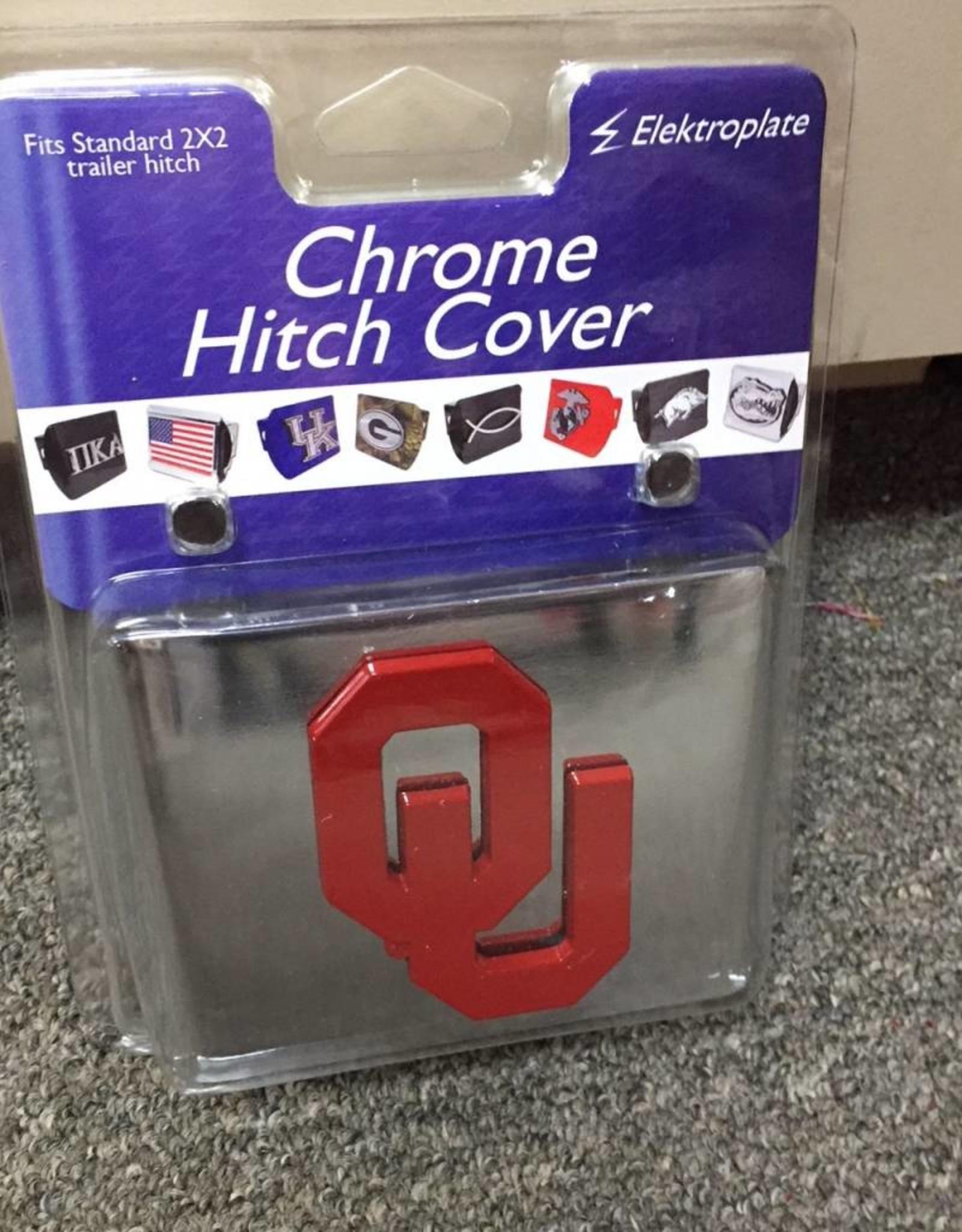Elektroplate OU Hitch Cover Chrome with Crimson OU
