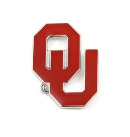 Aminco Crimson Interlocking OU Lapel Pin