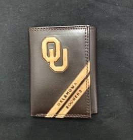 Zep-Pro Zep-Pro OU Debossed Leather TriFold Wallet