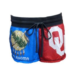 Concepts Sports Women's Concepts Sports OU and Oklahoma Flag Divided Shorts