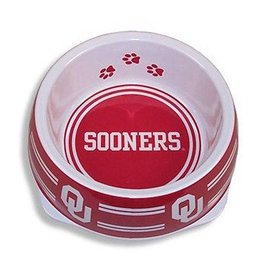Pets First Sporty K9 OU Sooners Large Pet Bowl