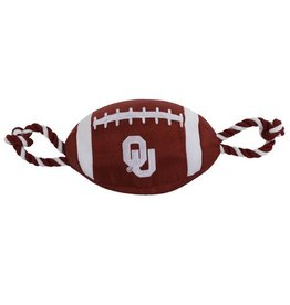 Pets First Nylon Football With Rope Toy