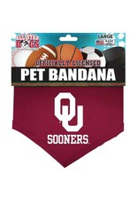 All Star Dogs All Star Dogs OU Sooners Crimson Pet Bandana