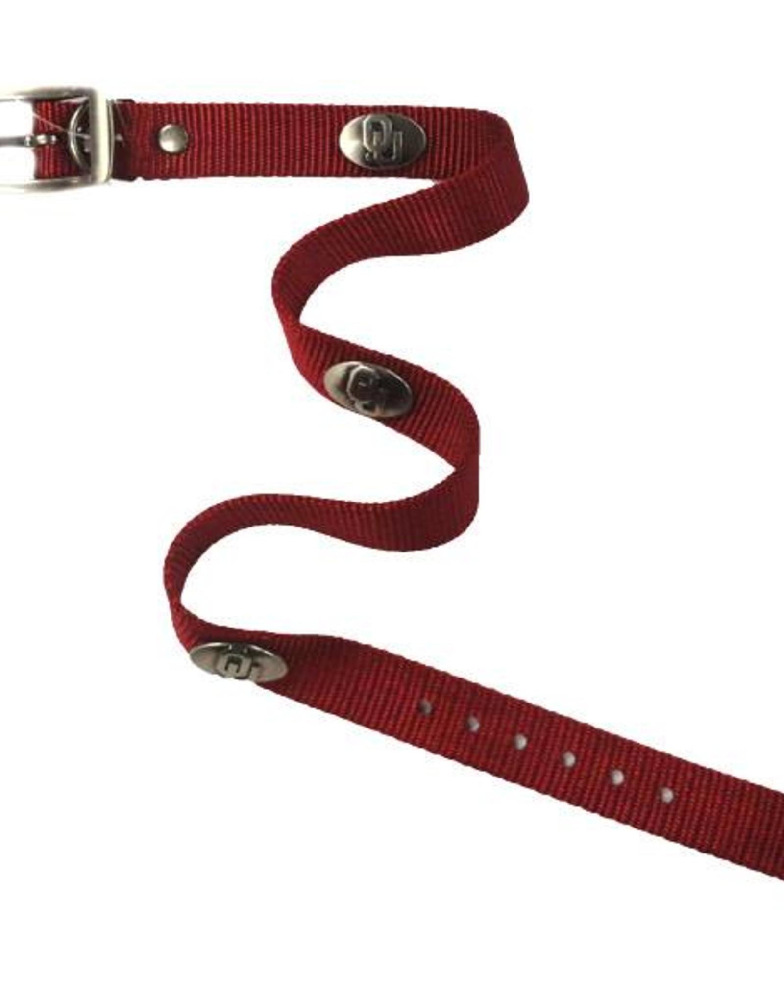 Zep-Pro OU Concho Crimson Nylon Dog Collar