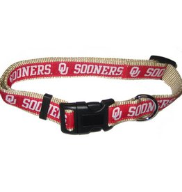 Pets First OU Sooners Crimson & Cream Dog/Cat Collar