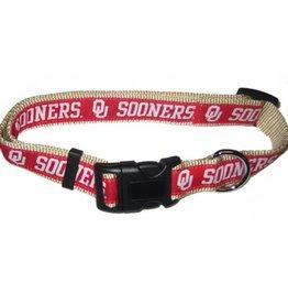 Pets First OU Sooners Crimson & Cream Dog/Cat Collar
