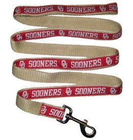 Pets First OU Sooners Crimson & Cream Leash