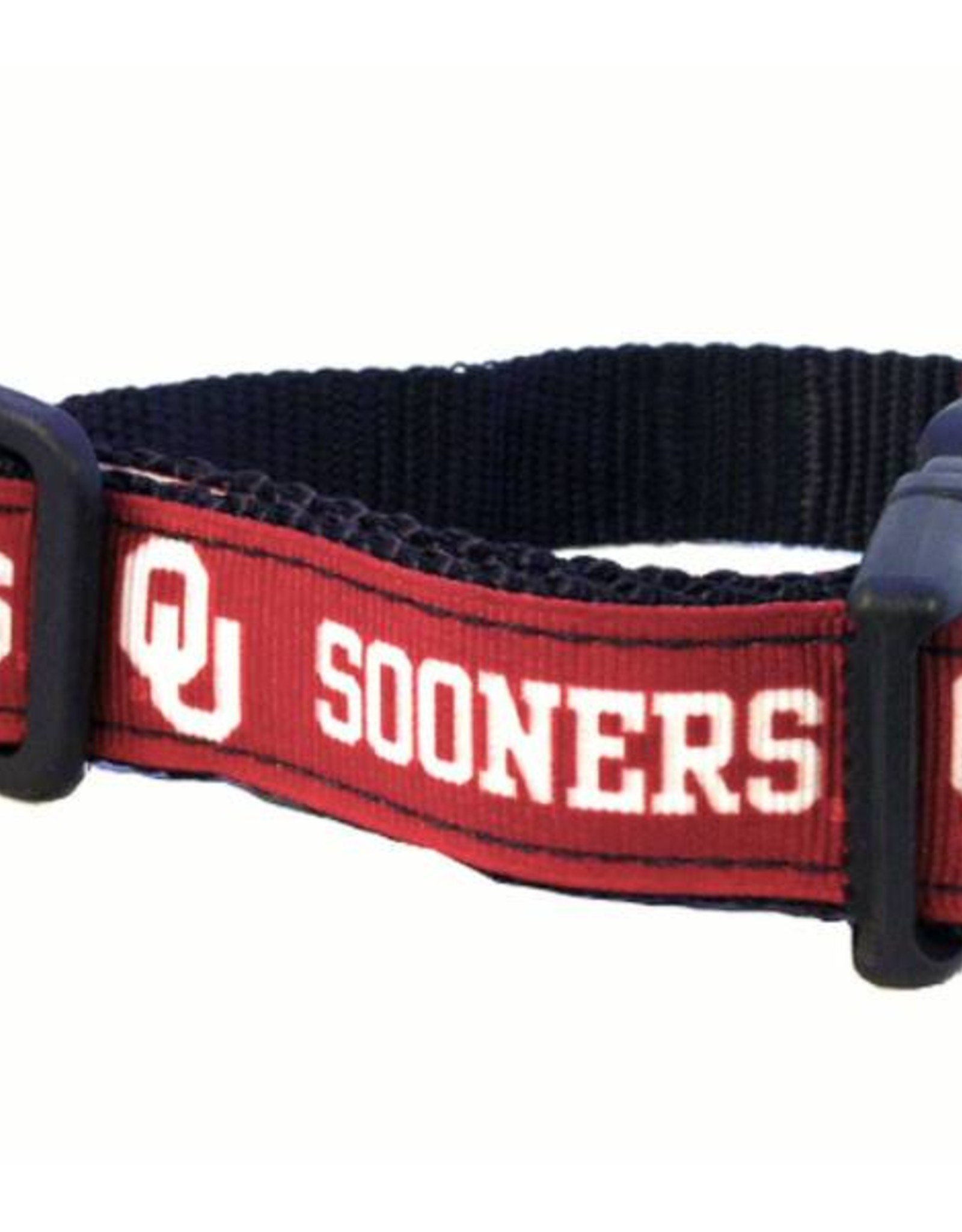 All Star Dogs OU Sooners Crimson Ribbon Dog Collar