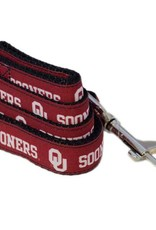 All Star Dogs OU Sooners Crimson Ribbon Leash 4'