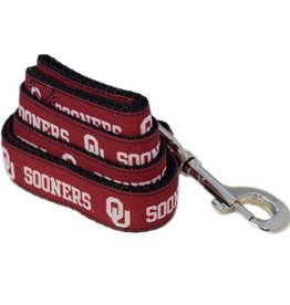All Star Dogs OU Sooners Crimson Ribbon Leash 4'