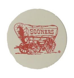 LRT Sooner Schooner Absorbent Natural Stone Coaster