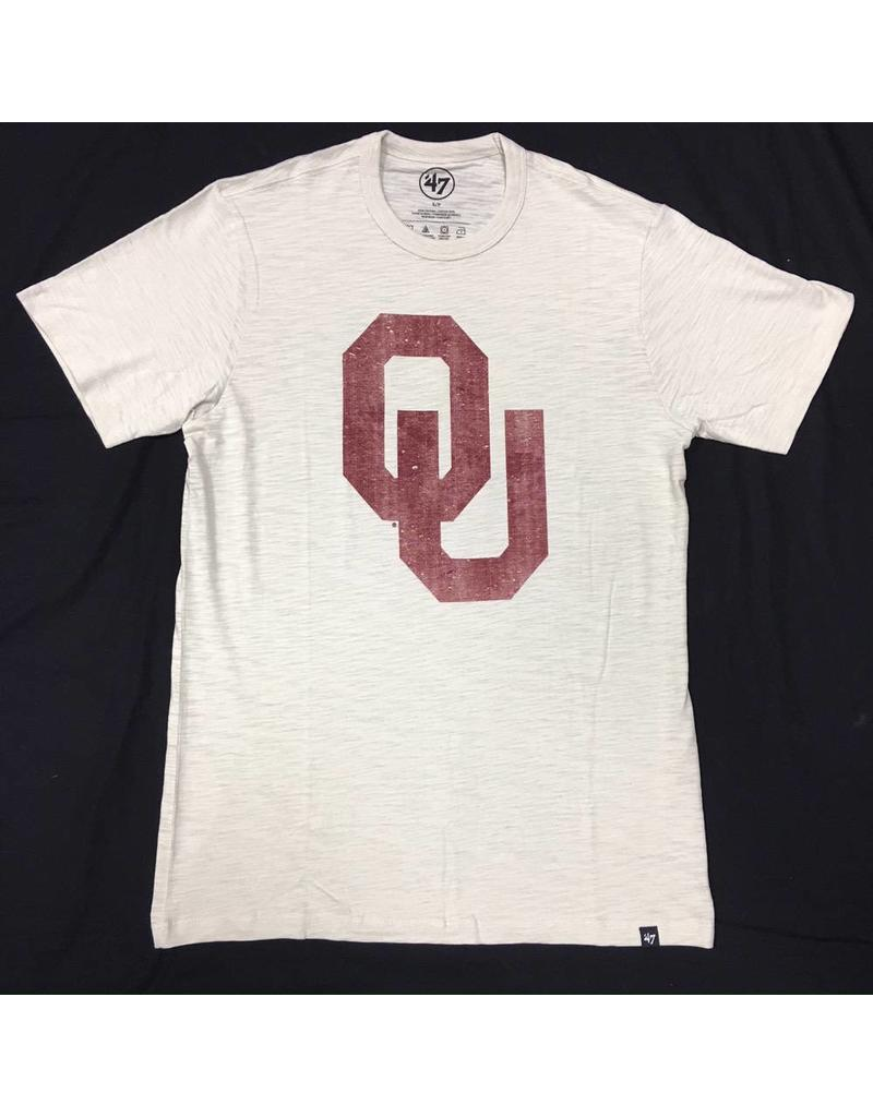 '47 Brand Men's '47 Brand OU Scrum Tee Cream