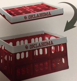 """Sykel Collapsible Crate OU Oklahoma 18""""Lx14""""Dx10""""H"""
