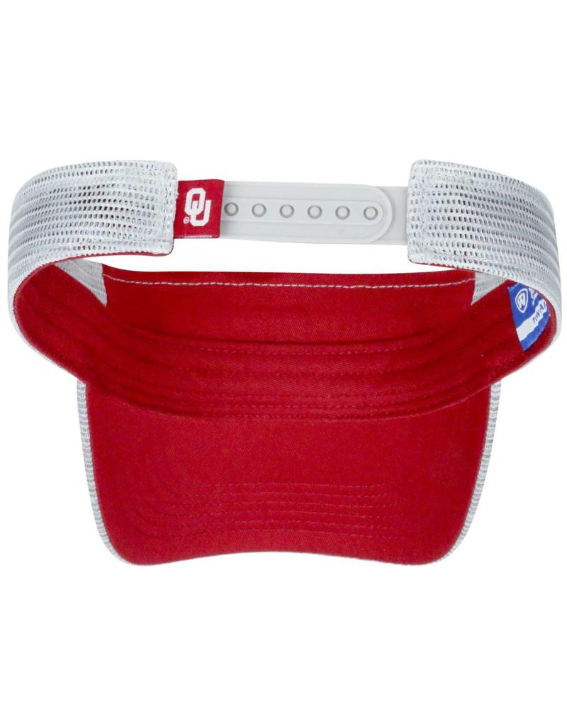Top of the World Men's TOW Ballholla Sooners Visor Two-Tone