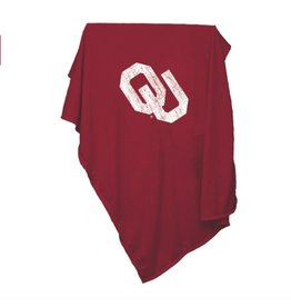 "Logo Logo Brands Sweatshirt Blanket OU Screened 84""x54"""
