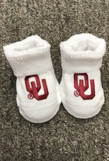 Two Feet Ahead Newborn White OU Booties