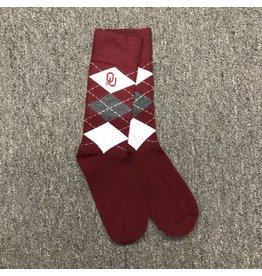 Two Feet Ahead Argyle Crew Sock (Shoe Size 9-12)