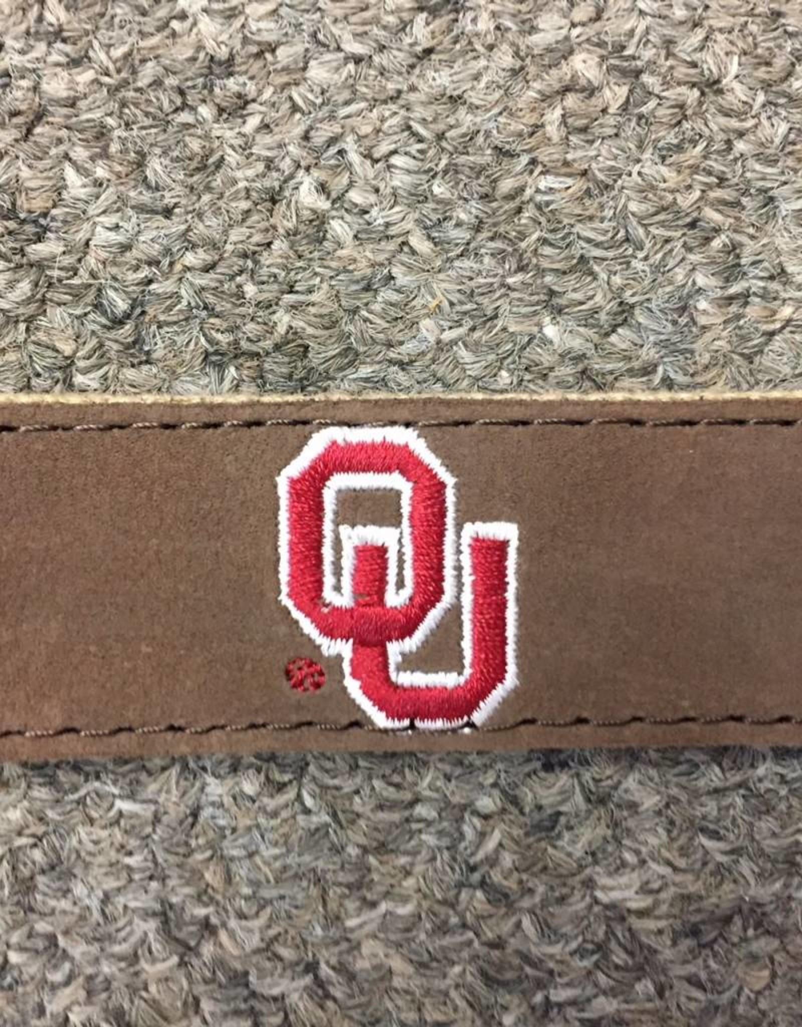 Jardine OU Nubuck Suede Leather Embroidered Belt