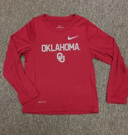 Nike Children's Nike Dri-Fit Long Sleeve Oklahoma OU Tee