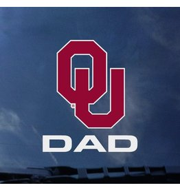"Color Shock OU Dad Vertical Auto Decal 3.8""X3.5"""