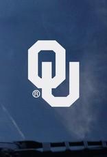 "Color Shock OU White Auto Decal 4.7""x3.4"""