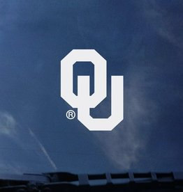 "Color Shock OU Small White Auto Decal 2.8""x2.1"""