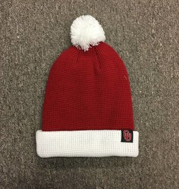 Nike Nike Crimson/ White Beanie with Removable Pom