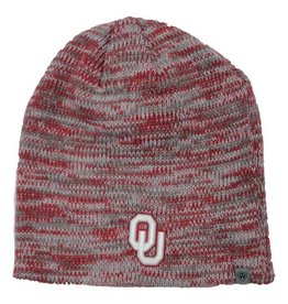 Top of the World TOW OU Schooner Crimson and Grey Knit Beanie