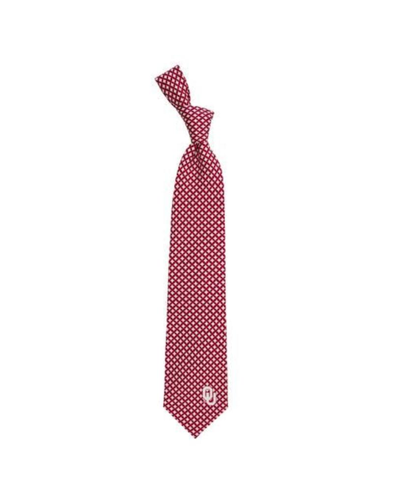 Eagles Wings Eagles Wings OU Diamante Woven Polyester Necktie